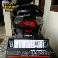 1 Set Cover Plat Nomor Motor Honda-Universal-Plastics-T High Class