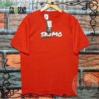Kaos Distro Baju Pria Tshirt Tangan Pendek Merah Skymo Ukuran M L XL