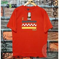 Baju Kaos Pria Merah Tshrit Distro Tangan Pendek Ukuran M L XL