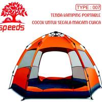 Tenda Camping otomatis portable Speeds tipe piramid 018-7 - Orange