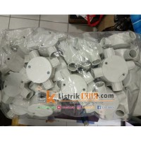 T DUS 20mm CABANG 4 POLOS