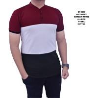 Dgm Fashion1 baju kaos Kerah Sanghai Combinasi Polos Polo Sanghai 6060