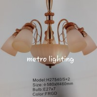 lampu gantung H27540/5+2 FRGD/BKCH