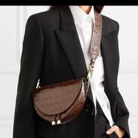 tas wanita crossbory fashion . tas kulit buaya