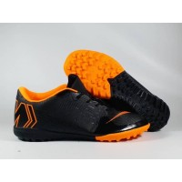 Sepatu Futsal Vapor XII Academy Black Orange TF Replika Impor