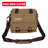Tas Selempang Kamera SLR DSLR + Tablet National Geographic Khaki