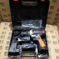Mesin Bor Baterai Cordless Drill Bor Tangan Baterai 12V