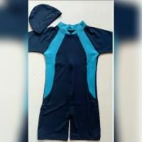diving anak/baju renang anak SD /Topi/Line biru