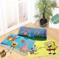 18 warna flanel kartun lucu spons pola bayi karpet, Rumah kamar mandi