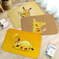 Baru Kartun Pikachu Pola Flanel Tikar Karpet, Non Slip Ruang Tamu Kam