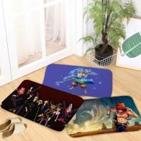 Baru One Piece Pola Flanel Tikar Karpet Ruang Tidur Non slip