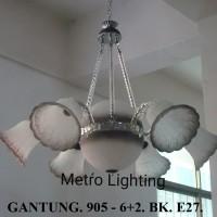 Lampu Gantung Kaca IL 905/6+2 BK