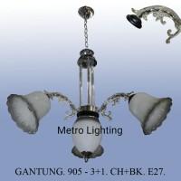 Lampu Gantung Kaca IL 905/3+1 CHBK