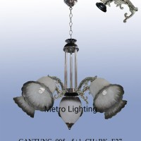 Lampu Gantung Kaca IL 905/5+1 CHBK