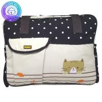 Tas Bayi Besar Selempang Motif Polkadot Coklat - Baby Diaper Bag
