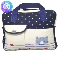 Tas Bayi Besar Selempang Motif Polkadot Biru - Baby Diaper Bag
