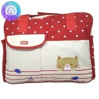 Tas Bayi Besar Selempang Motif Polkadot Merah - Baby Diaper Bag