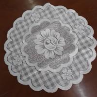 Taplak meja bundar kecil + bulat diameter 35 cm + bkotak 1039