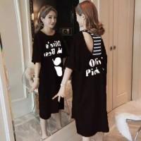 dress mini midi jumbo terusan kaos baju wanita minidress santai simple