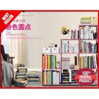 Rak Lemari Buku Serbaguna 3 Sisi Portable Rakit Bongkar Pasang BL3