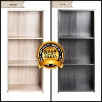 Rak Lemari Buku Serbaguna 3Susun Portable Rakit Dekorasi Furnitur BL5