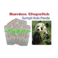 sumpit sumplit kayu koki panda + tusuk gigi ukir chef