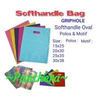kantong soft handle bag warna polos kantung pelastik plastick plastik