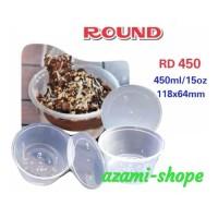 tempat makanan mangkok bowl paperkraft 450 ML pp tm rd mangkuk