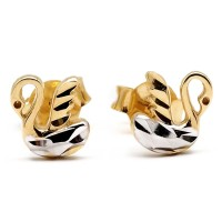 Swan Gold Earring 18K Anting Emas Angsa 340