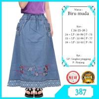 rok panjang jeans anak perempuan 7-11tahun