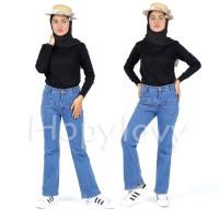 BJD- Celana Jeans Wanita Model Terbaru Cutbray Front Pocket Elin