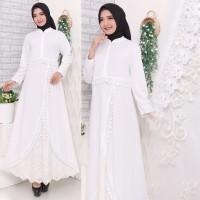 Gamis Putih Premium / Gamis Lebaran / Gamis Syari / Gamis Pesta 7163
