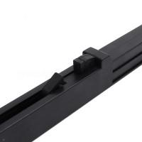 DELTA Black Soft Close Mechanism Barn Wood Door Hardware Track