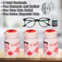 3 Botol Obat Mata Karotamin Free Kacamata Terapi free obat tetes herba