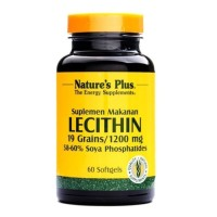 NATURE'S NATURES NATURE PLUS LECITHIN LESITIN 1200MG OTAK 60 SOFTGELS