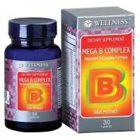 WELLNESS MEGA B COMPLEX VITAMIN ANTI STRESS OTAK SARAF 30 TABLETS