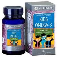 WELLNESS KIDS OMEGA 3 FISH SALMON OIL VITAMIN IMUNITAS ANAK 30 SOFTGEL
