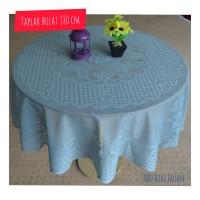 Taplak meja bulat home living + ukuran bundar 180 cm + bkotak 1150