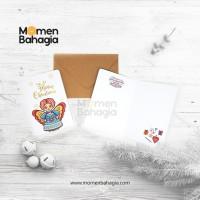 Kartu Ucapan Natal Peri + Amplop Vintage (Kartu Natal Murah Bagus)