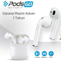 ADVAN Pods GO Earphone Bluetooth Wireless - Garansi Resmi