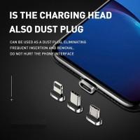 BASEUS Zinc Magnetic Kepala Adapter Micro USB Type C Lightning