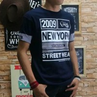 Baju Kaos Pria Tshirt Distro Atasan Cowo Oblong Katun Combed Kombinasi