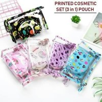 Tas kosmetik & make up 3 in 1 set PRINTED DESIGN edition