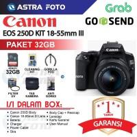 CANON EOS 250D KIT 18-55mm III PAKET 32GB KAMERA DSLR