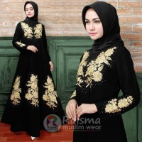 Gaun Hitam Untuk Pesta / Gaun Hitam Untuk Lebaran / Gamis Umroh Haji