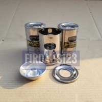 Asbak stainless mini unik diameter 8x13Cm