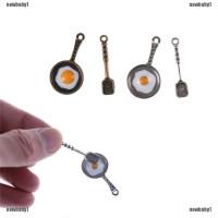 Mainan Wajan Penggorengan Omelete Mini dengan Sendok untuk Dekorasi