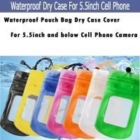 Tas Pouch Anti Air untuk Kamera Handphone 5.5Inci
