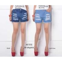 NUTTI 68468 1b Celana Jeans Pendek Import / Ripped Jeans