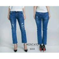MOSCATO 1222 1b Celana Jeans Panjang Import / Ripped Jeans